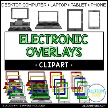 Electronic Overlays Clip Art (computer, laptop, tablet, phone)