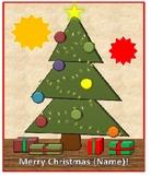 Electronic Self-Decorating Christmas Tree Card