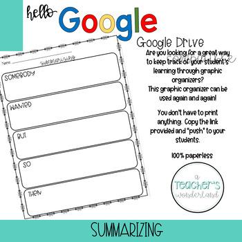Electronic Summarizing Graphic Organizer [Google Drive Compatible]