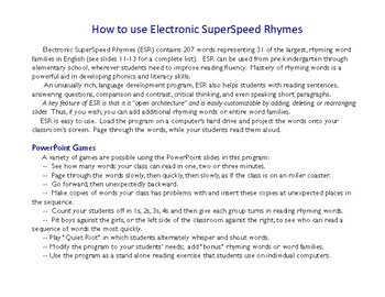 Electronic Superspeed Rhymes