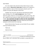 Electronics Day Permission Letter to Parents