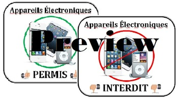 Electronics Permitted/Prohibited - BYOD FRENCH Electroniques Permis/Interdit