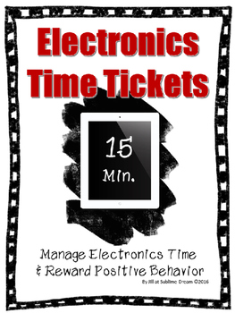 Editable Electronics Time Management & Reward Coupons.
