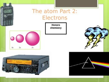 Electrons, light, and electron configuration unit powerpoint lecture