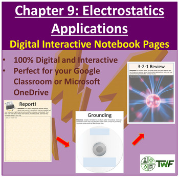 Electrostatics Applications - Digital Interactive Notebook Pages