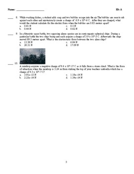 Coulombs Law Practice (Force)