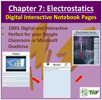 Electrostatics - Digital Interactive Notebook Pages