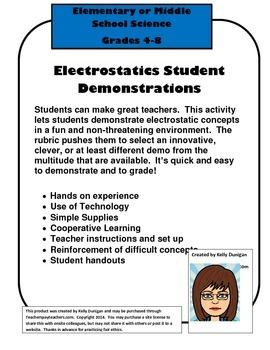 Electrostatics Student Demos Lower Grades