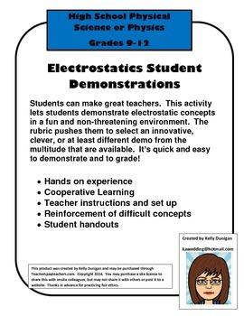 Electrostatics Student Demos Short Assignment