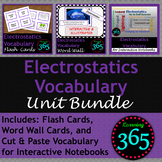 Electrostatics Vocabulary Unit Bundle
