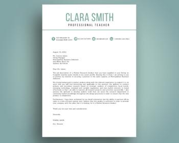Elegant 3 in 1 teacher resume template for MS PowerPoint, NR03