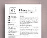 Elegant 3 in 1 teacher resume template for MS PowerPoint, NR04