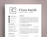 Elegant 3 in 1 teacher resume template for MS PowerPoint, NR04