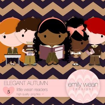 Elegant Autumn - Little Readers Clip Art