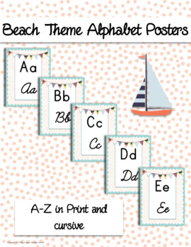 Beach Alphabet Posters