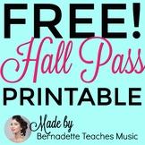 Elegant, Colorful, Free Printable Hall Pass Variety