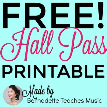 Elegant, Colorful, Free Printable Hall Pass Variety