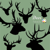 Elegant Deer Head Silhouette Clip Art