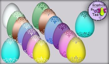 Elegant Easter Eggs Clipart