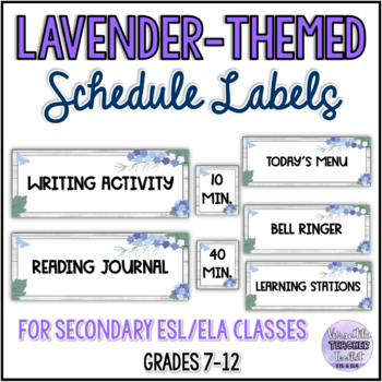Elegant Floral/Lavender-themed Classroom Labels & Posters BUNDLE