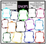 Elegant Frames Clip Art Bundle {Educlips Clipart}