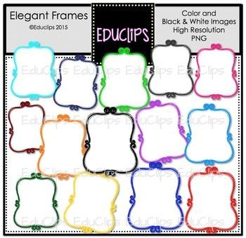 Elegant Frames Clip Art Bundle
