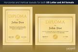 Elegant Golden Diploma Template