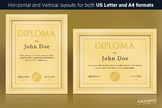 Elegant Golden Diploma Template