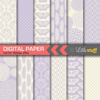Elegant Lavender Digital Papers