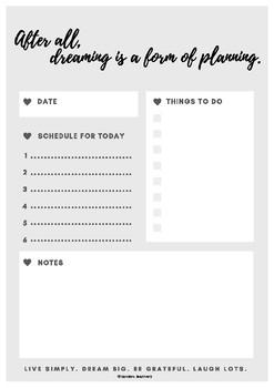 Elegant Minimalist Daily Planner