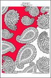 Elegant Paisleys (simple version) - Printable Colouring Page.