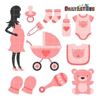 Elegant Pregnancy Clip Art - Great for Art Class Projects!