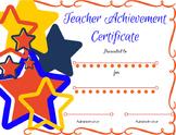 Elegant Teacher Certificate/Award
