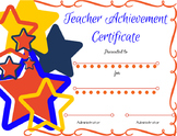 Elegant Teacher Certificate/Award