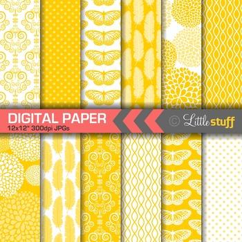 Elegant Yellow Digital Papers