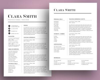 Elegant modern teacher resume template for MS PowerPoint, NR02