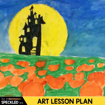 Elementary Art Lesson Plans - Pumpkin Patch Perspective - Watercolor Painting