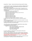 Elem Lesson Plan Science Intro to Nervous System