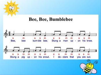 Elementary Music Literacy  Bee Bee Bumblebee Promethian ActivInspire