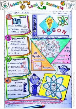 """Element - ARGON - """"Doodle Notes"""""""