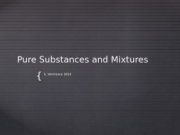 Element, Compound, Mixture Opener
