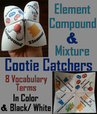 Elements Compounds and Mixtures Activity (Cootie Catcher Foldable Review Game)