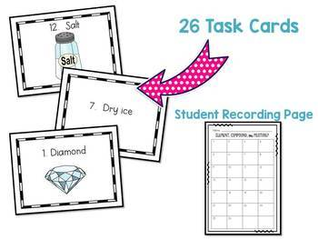 Element, Compound, or Mixture? Task Cards