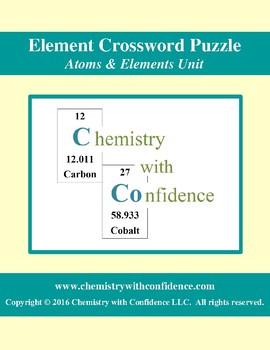 Element Crossword Puzzle