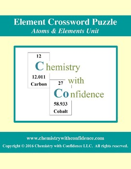 Element Crossword Puzzle