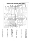 Element Crossword Puzzle (6 versions!) w/ Names and Symbol