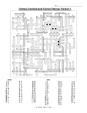 Element Crossword Puzzle w/ Names and Symbols and Answer Key