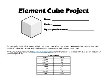 Element Cube Project - Periodic Table