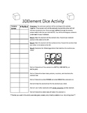 Element Dice Activity with Optional 3D Printed Dice.