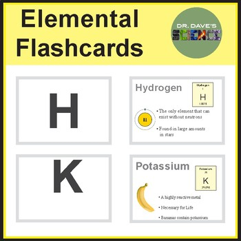 Element flashcards by dr daves science teachers pay teachers element flashcards urtaz Gallery